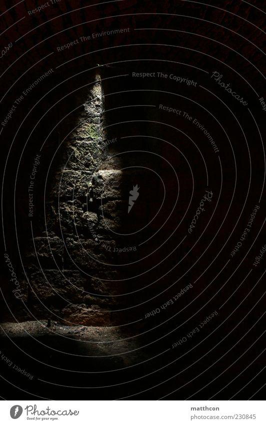 Old Black Dark Stone Surrealism Cellar Shaft of light Stone wall