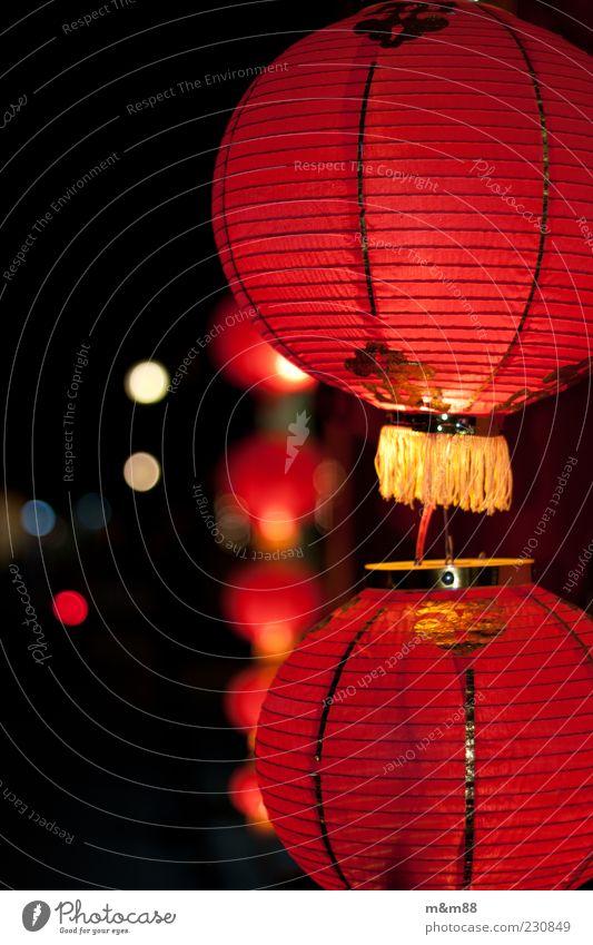 Red Vacation & Travel Moody Bright Gold Esthetic Asia Decoration China Illuminate Lampion