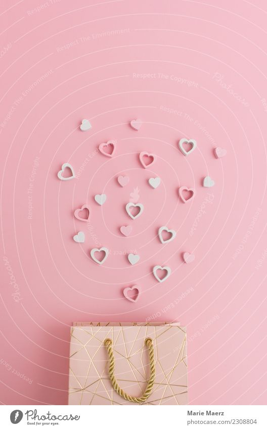 Give hearts Shopping Valentine's Day Mother's Day Wedding Packaging Love Happiness Beautiful Pink Happy Surprise Donate Gift Paper bag gift bag Heart Pamper