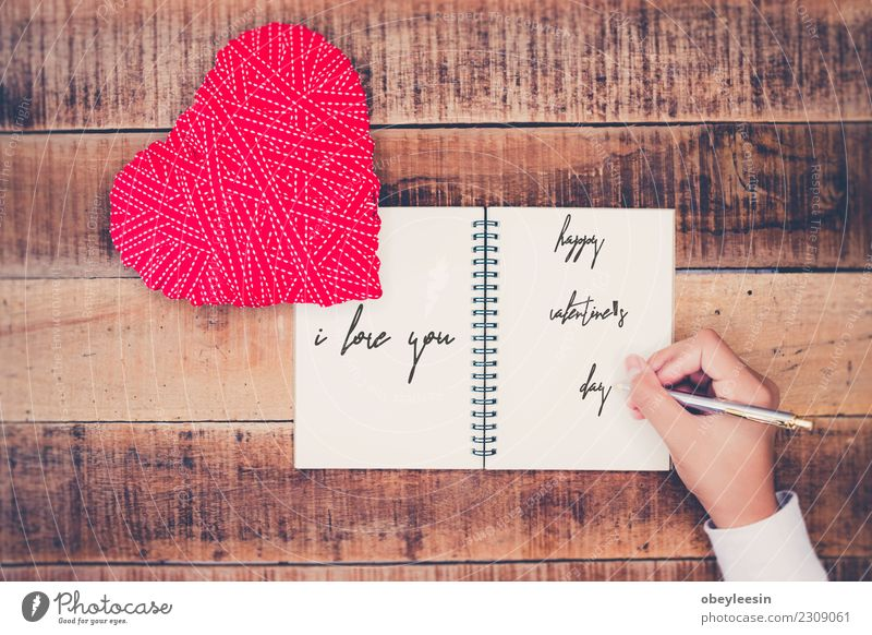 Handwritten love letters Woman Human being Old Red Black Adults Life Love Together Heart Mother Symbols and metaphors Passion Grandmother Generation