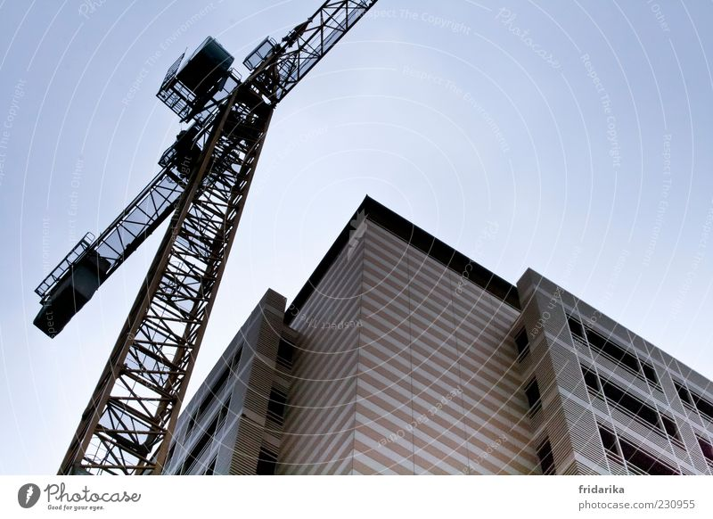 Window Wall (building) Wall (barrier) Facade Tall Large High-rise Corner Construction site Manmade structures Industry Crane Sharp-edged Industrial plant
