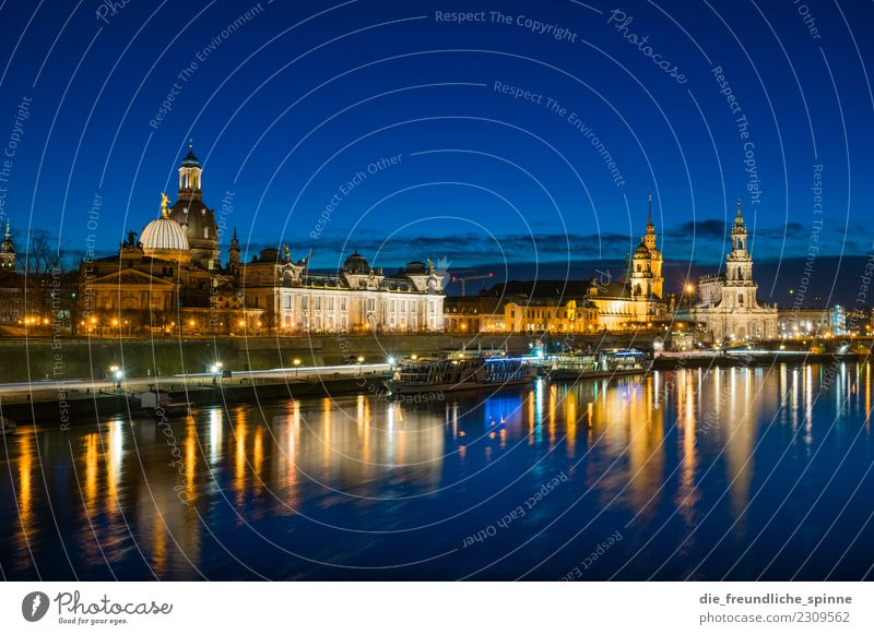 Dresden Panorama Tourism Sightseeing City trip Architecture Saxony Germany Europe Town Downtown Tourist Attraction Landmark Womens chruch Hofkirche Historic
