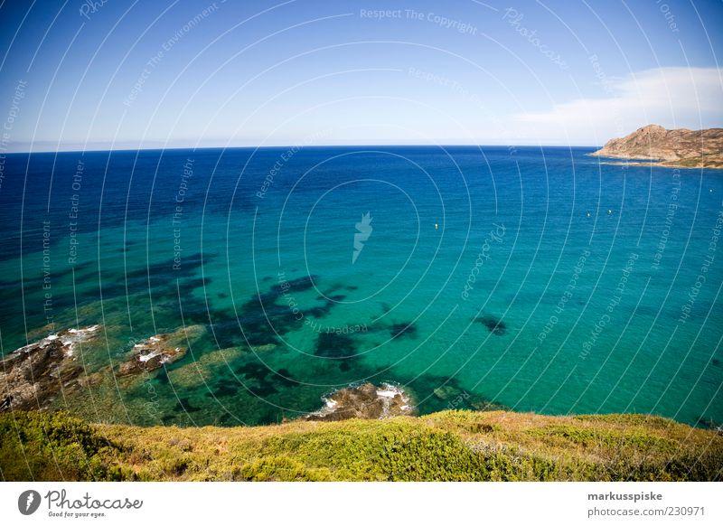 Sky Blue Ocean Beach Far-off places Relaxation Freedom Coast Earth Waves Horizon Rock Fresh Island Climate Hill