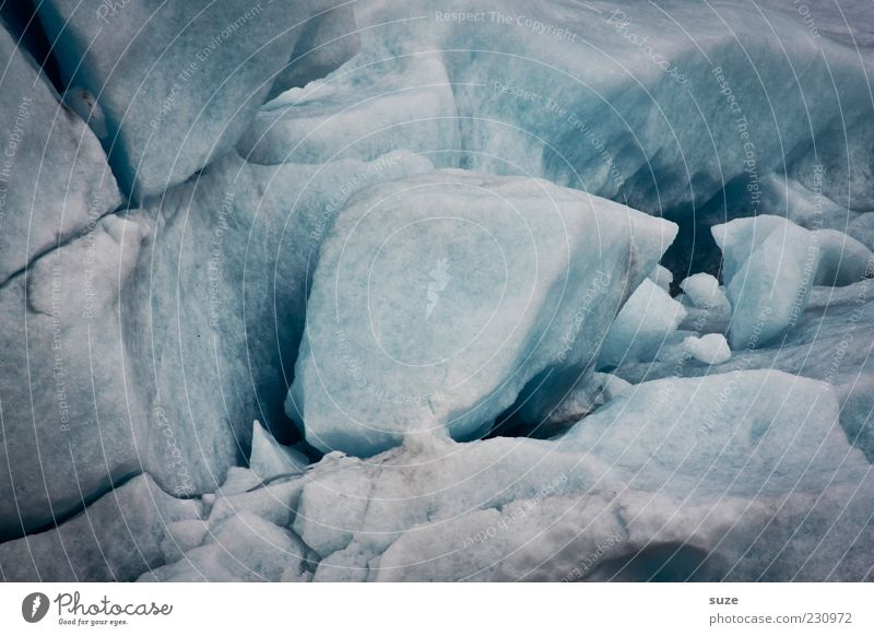 CHEESE BREAD Environment Nature Elements Winter Climate Ice Frost Snow Cold Blue Gray Iceberg Block of ice Brocken Colour photo Subdued colour Exterior shot