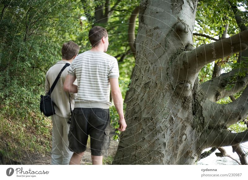 legacies Lifestyle Well-being Trip Freedom Hiking Human being Young man Youth (Young adults) Friendship 2 18 - 30 years Adults Environment Nature Tree Forest