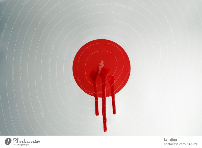 Death Circle Flag Information Point Japan Blood Accident Disaster Politics and state Wound Daub Contrast Shadow Fluid Asia