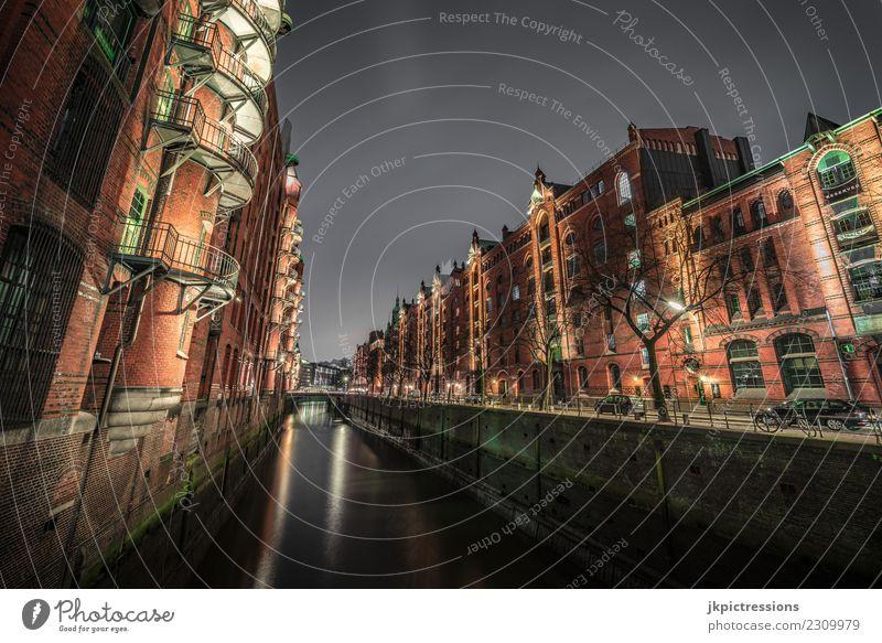 Sky Water Clouds Dark Lighting Wood Building Germany Facade Europe Bridge Hamburg Manmade structures Handrail Harbour Brick