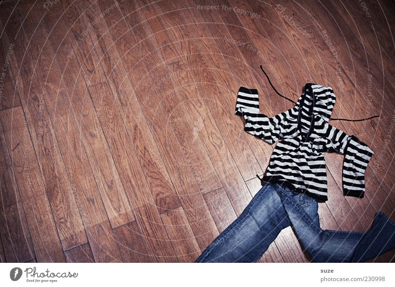 Wood Funny Fashion Brown Walking Crazy Clothing Floor covering Ground Stripe Creativity Idea Jeans Pants Whimsical Laundry