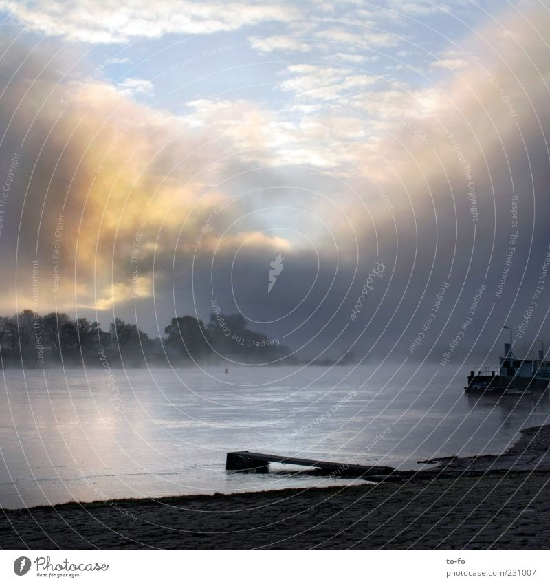 Water Sky Clouds Landscape Moody Fog Environment Hope River Expectation River bank Shroud of fog Wall of fog