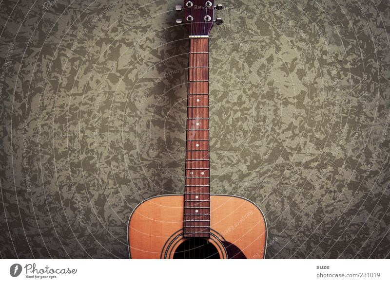 Green Wall (building) Wood Wall (barrier) Natural Music Authentic Guitar Musical instrument Partially visible Tone Sound Musical instrument string