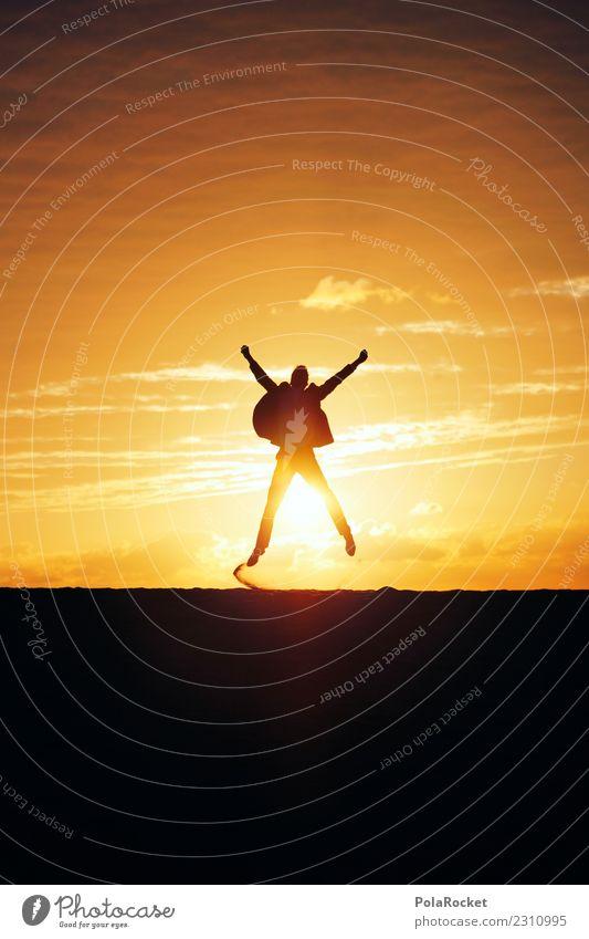#AS# Big Jump Art Work of art Esthetic Business Success Prospect of success Breach Sun Joy Millionaire Bonfire Joybringer Horizon Suit Career Profession