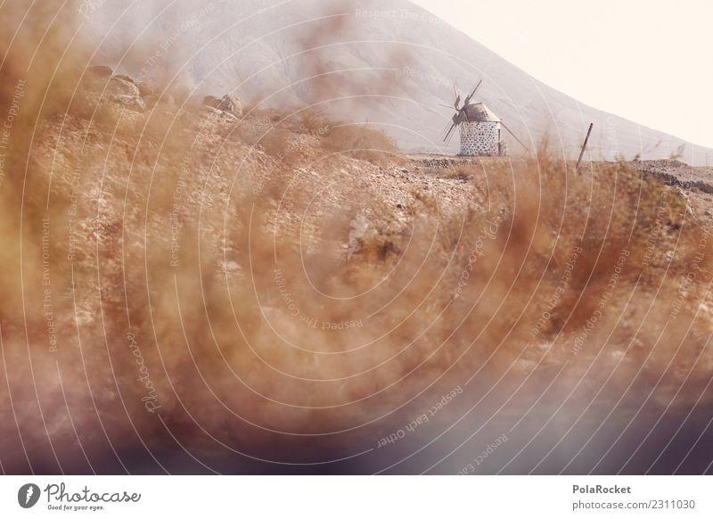 #AS# Island of the Wind Art Esthetic Mill Windmill Windmill vane Fuerteventura Spain Wind energy plant Vacation photo Vacation destination Mediterranean