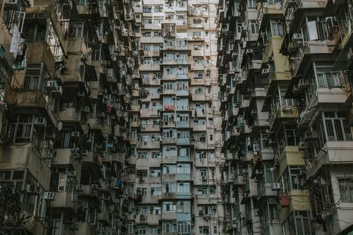 Hong Kong Architecture Hongkong Town Downtown Populated Overpopulated House (Residential Structure) Wall (barrier) Wall (building) Window Tourist Attraction
