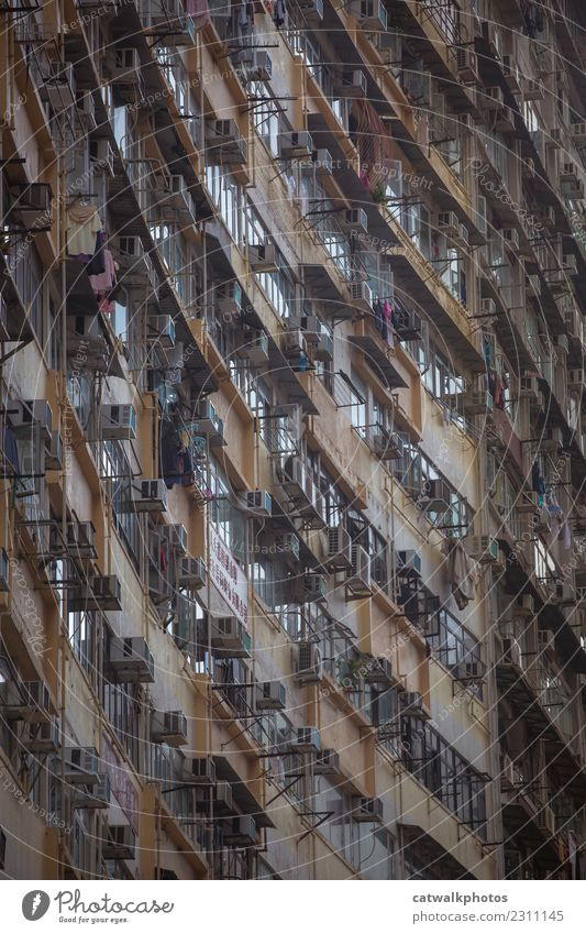 Hong Kong architecture Town House (Residential Structure) Window Architecture Wall (building) Wall (barrier) Exceptional Facade Flat (apartment) Historic