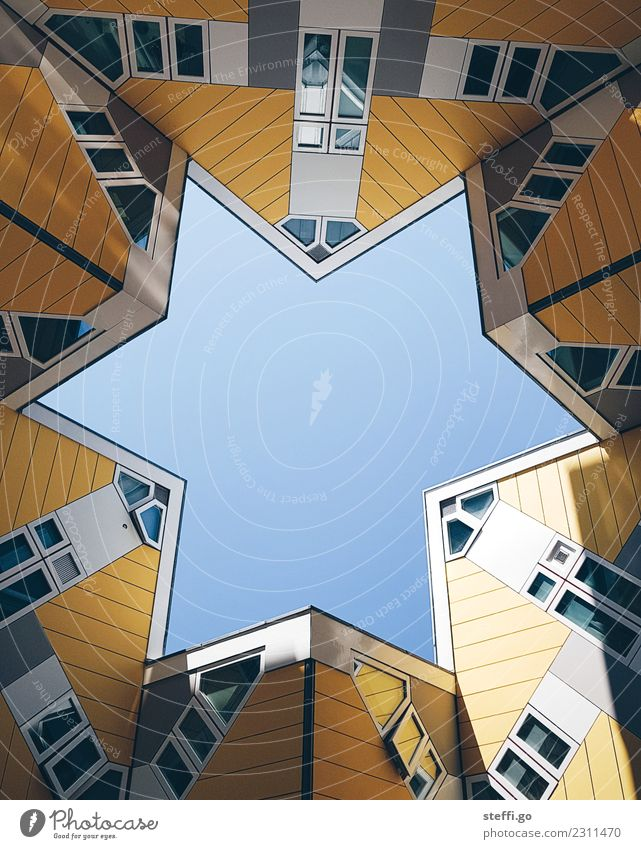 special architecture in the shape of a star in Rotterdam; Netherlands Freedom Sightseeing Flat (apartment) House (Residential Structure) Dream house