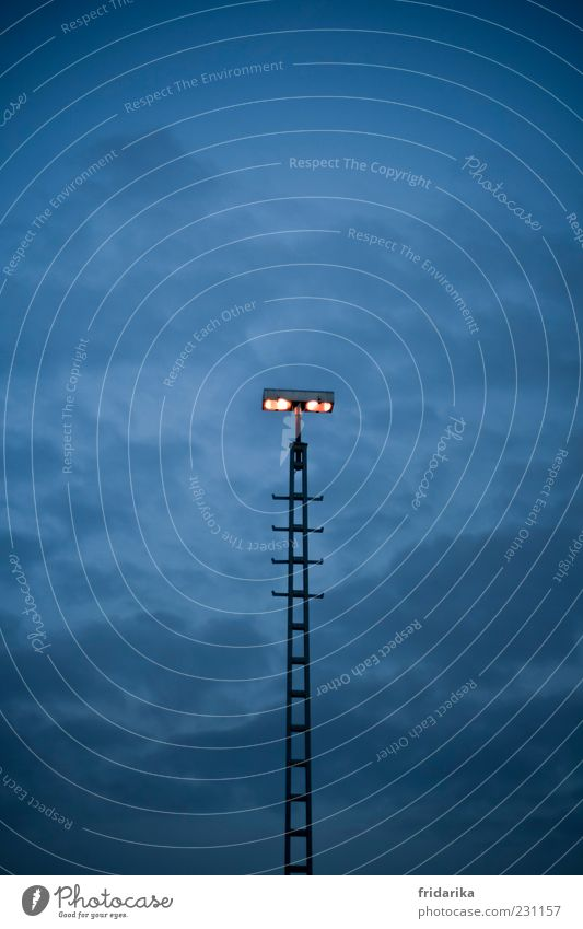 Blue Black Cold Metal Lamp Lighting Fear Glittering Large Illuminate Might Threat Long Discover Ladder Floodlight