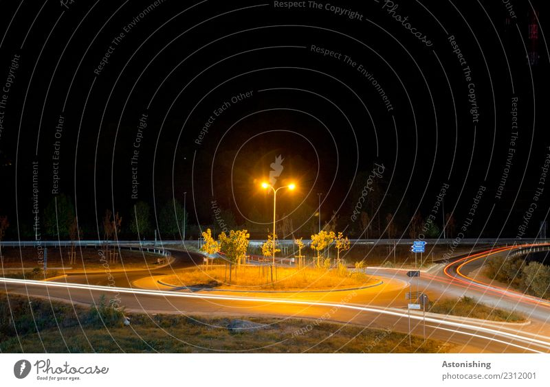 roundabout Technology Energy industry Landscape Tree Grass golem Albania Small Town Transport Passenger traffic Street Crossroads Traffic circle Car Movement