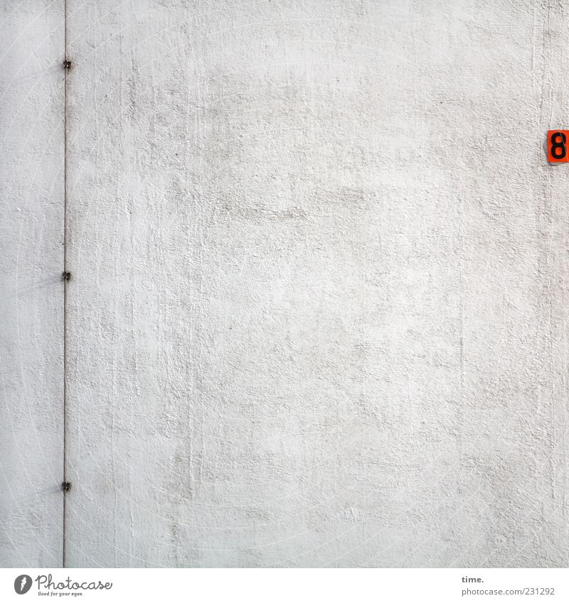 Red Wall (building) Gray Wall (barrier) Background picture Facade Signs and labeling Arrangement Perspective Digits and numbers Simple Plaster Vertical 8
