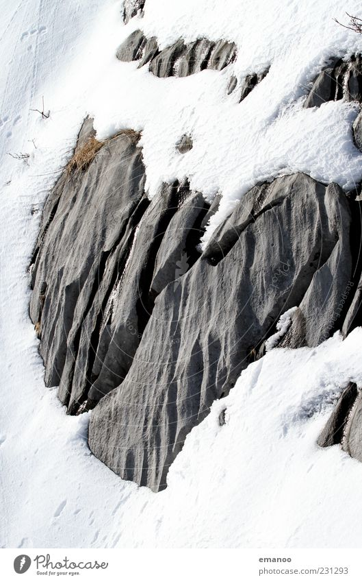 old love does not weather Vacation & Travel Winter Snow Mountain Nature Landscape Ice Frost Alps Stone Firm Cold White Infatuation Heart Heart-shaped Furrow