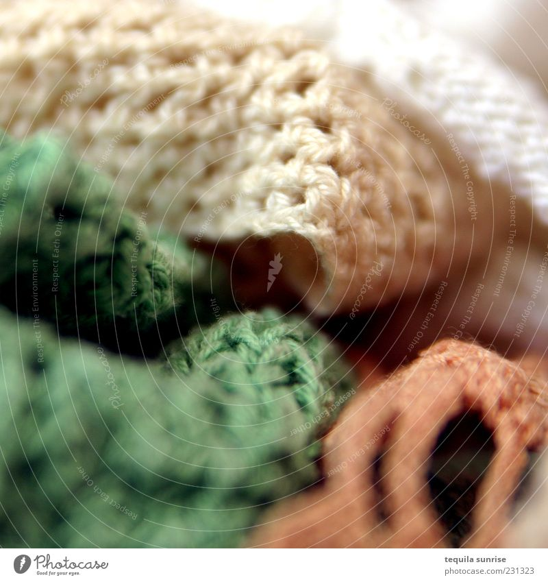 Green White Yellow Orange Gold Leisure and hobbies Clothing Handcrafts Knitted Oven cloth Crocheted