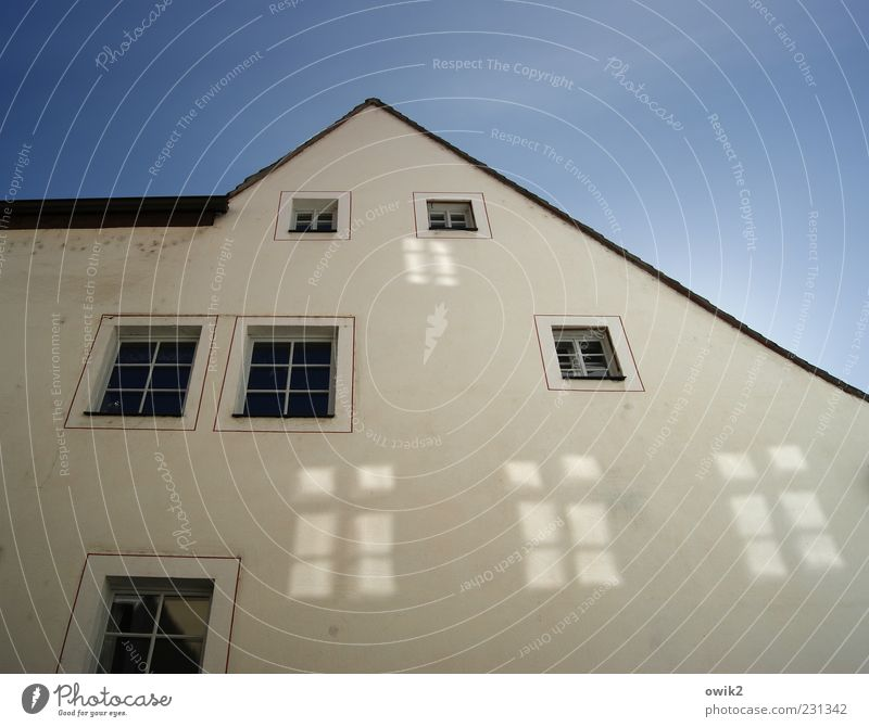 Blue White Beautiful Black House (Residential Structure) Window Wall (building) Above Architecture Gray Building Wall (barrier) Bright Flat (apartment) Facade