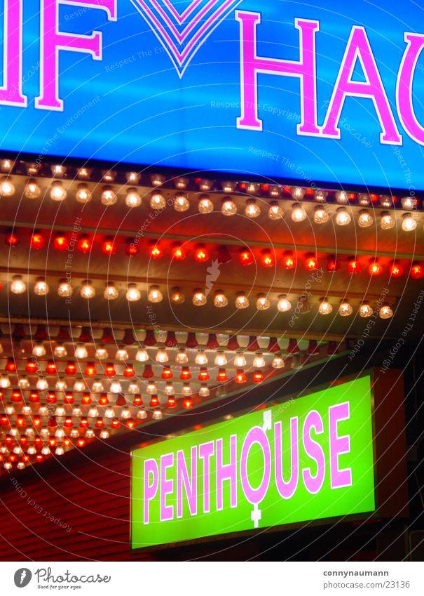 HH Reeperbahn Night Town Style Light Neon sign Sex Nightclub Europe Hamburg Germany