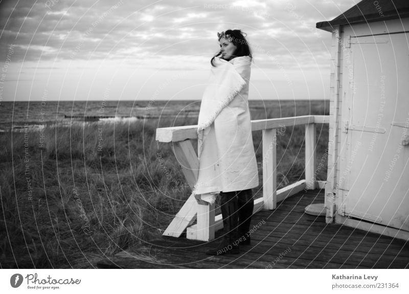 Lost Thoughts (Baltic Sea in the Evening) Harmonious Relaxation Calm Vacation & Travel Trip Far-off places Summer Summer vacation Beach Ocean