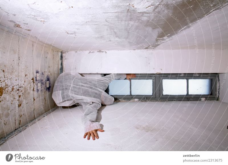 Human being Man House (Residential Structure) Window Copy Space Room Vantage point Sit Stand Back Corner Mask Hide Stage play Ghosts & Spectres  Costume