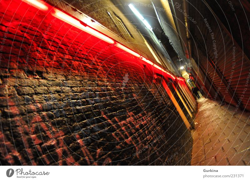 Red light Human being City Dark Wall (building) Wall (barrier) Concrete Masculine Dangerous Europe Hot Claustrophobia Exotic Capital city Tourist Attraction