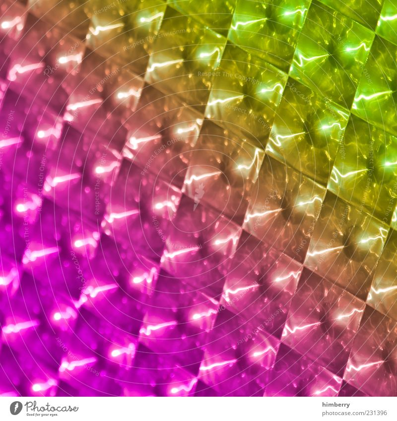 Green Yellow Pink Glittering Design Exceptional Cool (slang) Uniqueness Kitsch Plastic Hip & trendy Positive Reflection Prismatic colors