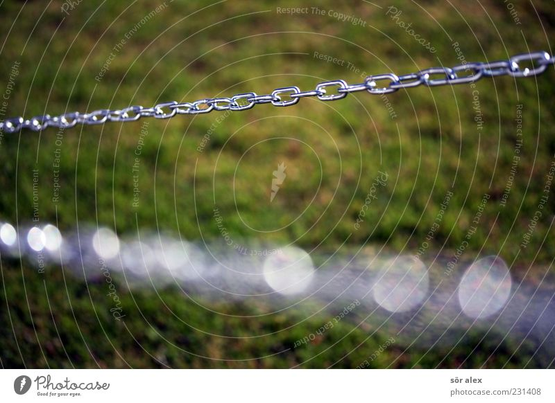Green Metal Glittering Safety Network Lawn Strong Steel Attachment Chain Teamwork Silver Hold Iron chain Chain 2