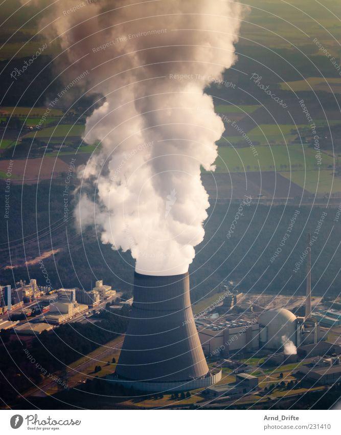 Nuclear power plant Emsland Advancement Future Energy industry Nuclear Power Plant Energy crisis Environment Nature Landscape Field Industrial plant Building