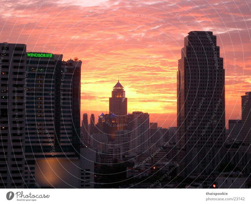 Bangkok at sunset Thailand Sunset Town Success