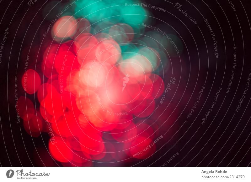 Abstract bright colorful dots of light, soft bokeh Design Shows Party Illuminate Round Multicoloured Green Red Black Movement Bizarre Energy Colour Threat Art
