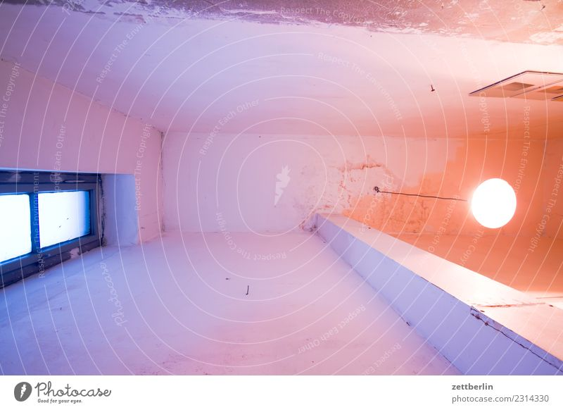 ceiling, old building Ceiling Worm's-eye view Deserted Room Interior design Copy Space Living or residing Outline Old building Wall (building) Window Lamp Light