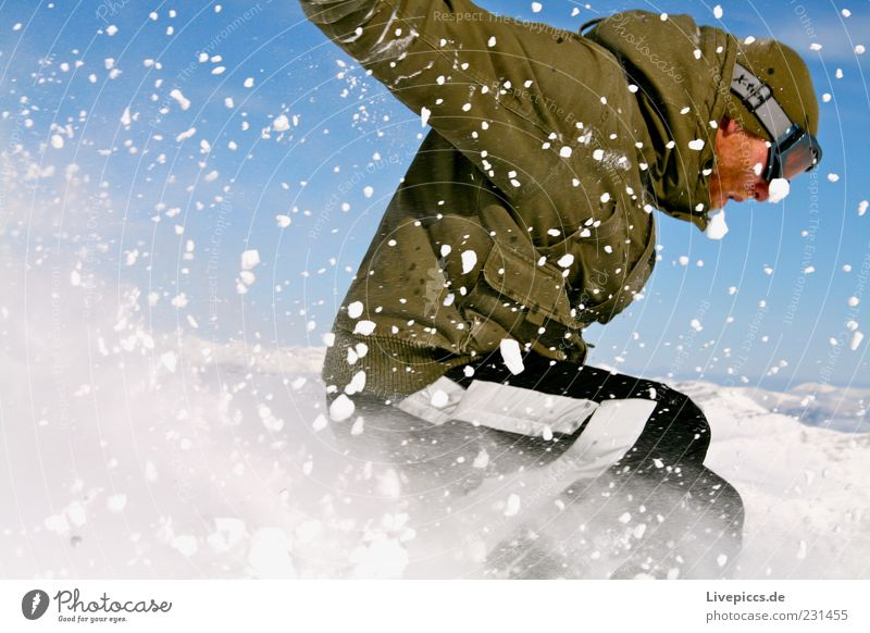 Human being Vacation & Travel Man Joy Winter Mountain Adults Snow Sports Happy Lifestyle Masculine Free Action Speed Alps