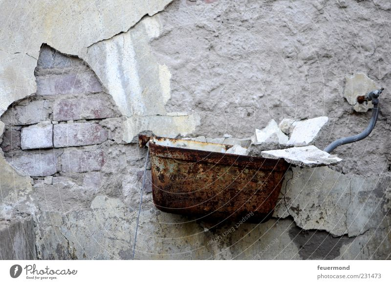 Old Cold Wall (building) Building Wall (barrier) Flat (apartment) Interior design Dirty Facade Broken Change Construction site Bathroom Derelict Toilet Decline