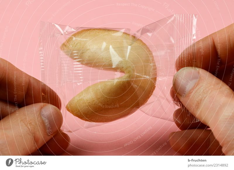 Glückskeks packed Candy Man Adults Fingers 30 - 45 years Select To hold on Happy Pink Protection Fear of the future Discover Hope Future Fortune cookie Cookie