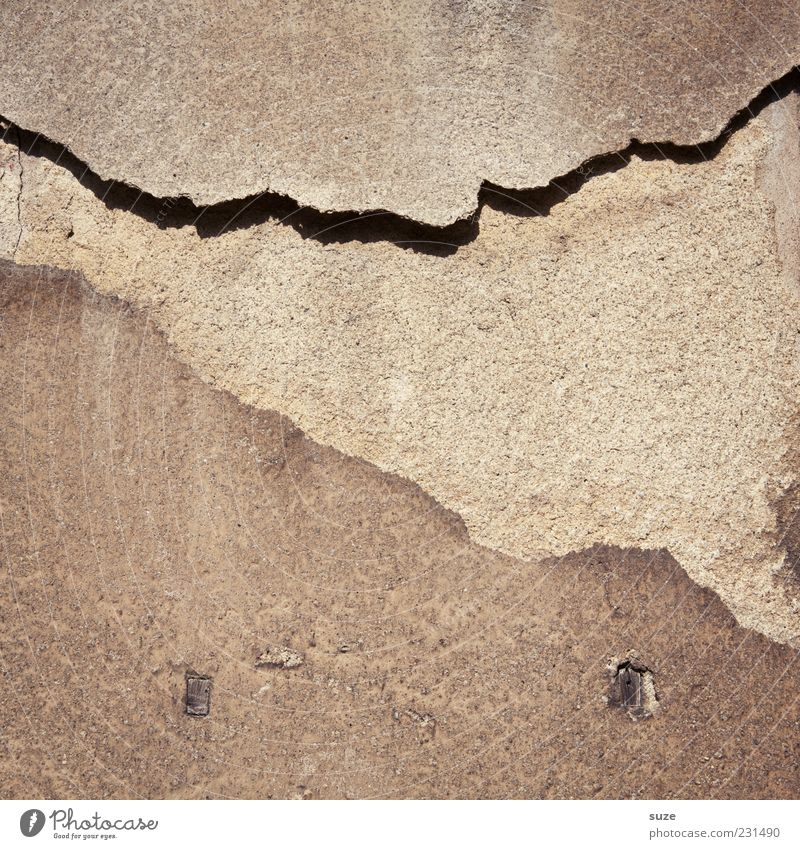 Old House (Residential Structure) Wall (building) Building Wall (barrier) Background picture Dirty Facade Concrete Authentic Broken Gloomy Transience Simple Derelict Dry