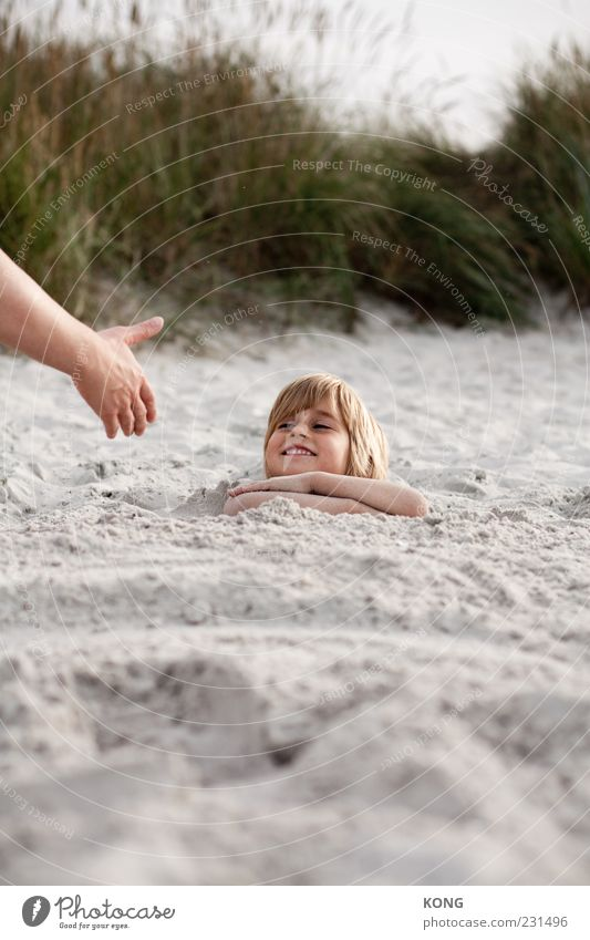 Human being Child Hand Vacation & Travel Ocean Beach Joy Face Relaxation Boy (child) Head Grass Happy Sand Laughter Funny