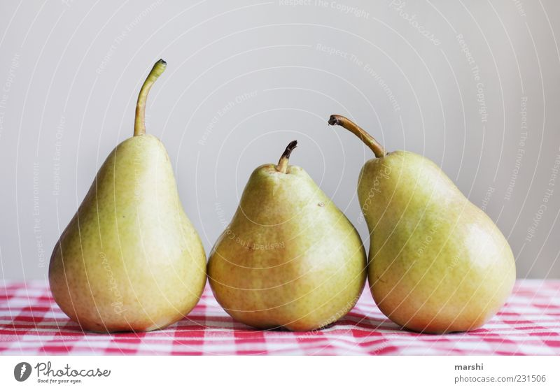 Healthy Fruit Nutrition Food Healthy Eating Delicious Still Life Organic produce Checkered Tablecloth Vegetarian diet Sense of taste Pear Food photograph