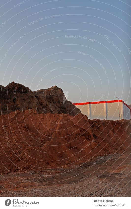 White Red Sand Building Brown Earth Construction site Manmade structures Industrial plant Sandheap