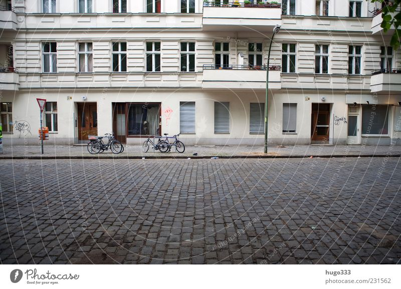 City House (Residential Structure) Street Window Stone Door Facade Living or residing Berlin Lantern Balcony Pavement Capital city Paving stone Curbside