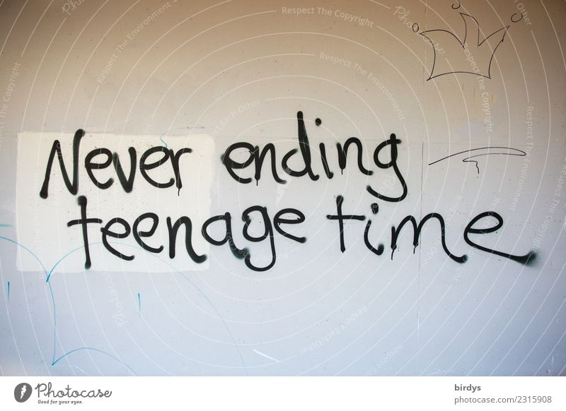 eternal youth Characters Graffiti Old Dream Authentic Emotions Optimism Hope Longing Fear of the future Senior citizen End Joie de vivre (Vitality) Ease