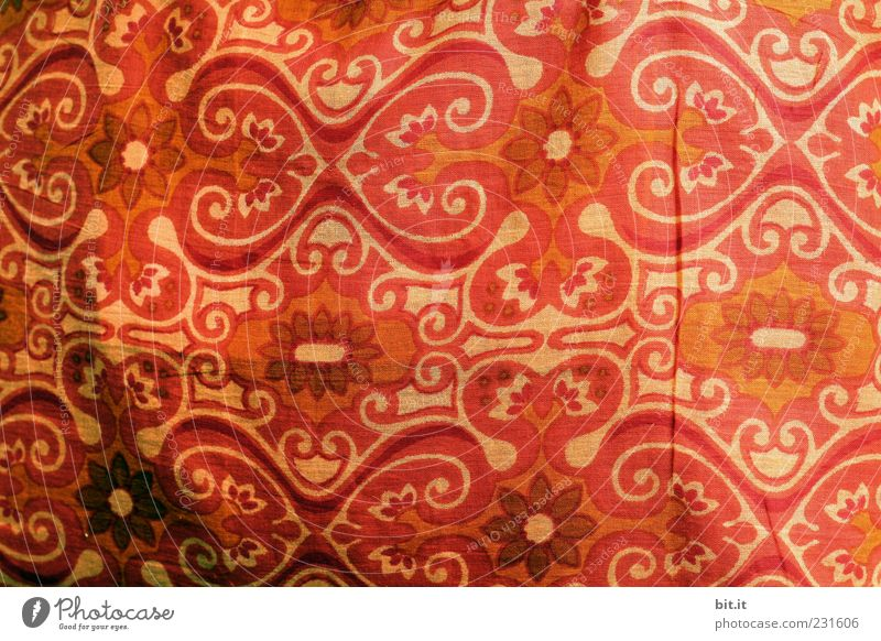 fabric pattern Decoration Ornament already Brown Red Cloth Textiles Drape Cloth pattern Screening Linen cloth Rag Pattern Structures and shapes Woven