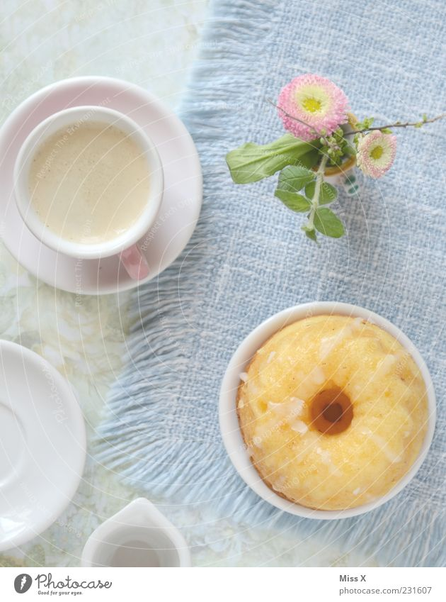 Flower Nutrition Food Small Blossom Beverage Sweet Coffee Kitsch Café Crockery Cake Cup Plate Delicious Baked goods