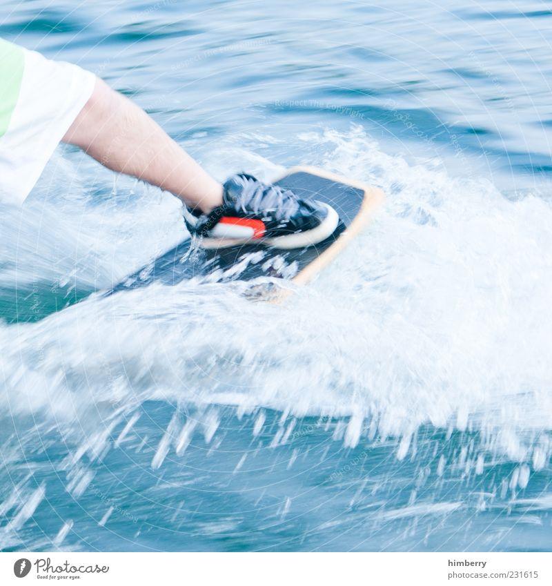 wakeskate Lifestyle Sports Fitness Sports Training Aquatics Sportsperson Human being Masculine Legs 1 Environment Summer Climate Weather Beautiful weather