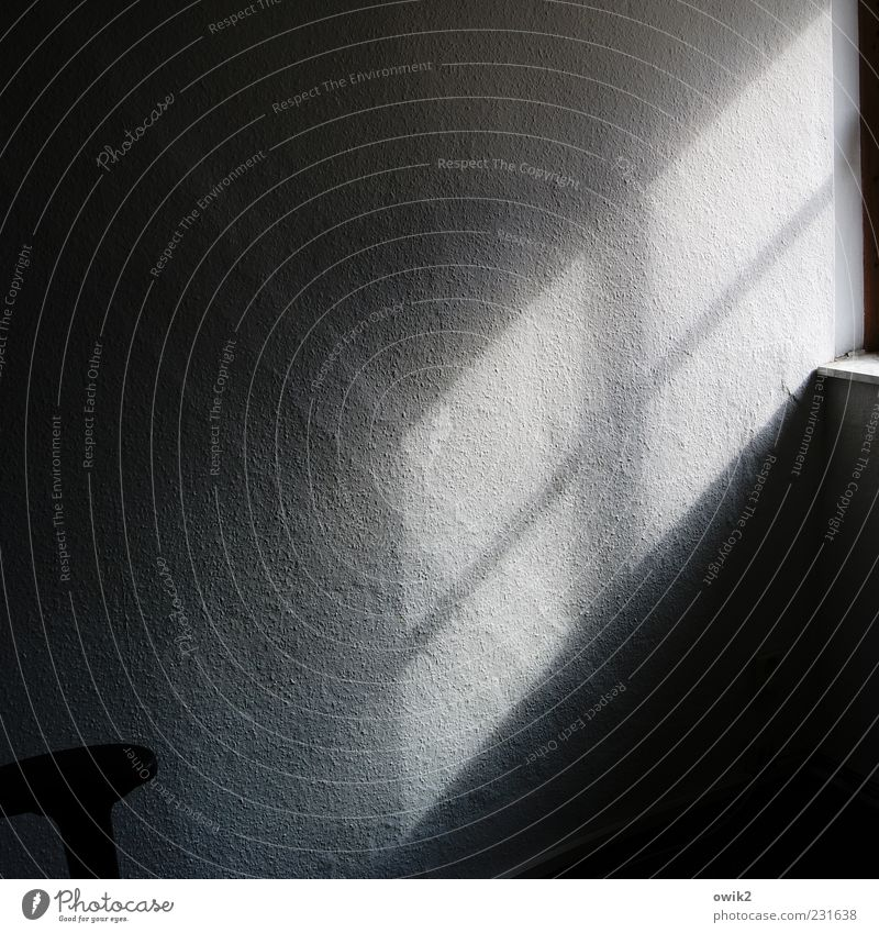 Blue White Sun Calm Black Window Wall (building) Wall (barrier) Gray Background picture Flat (apartment) Simple Transience Change Copy Space Hope