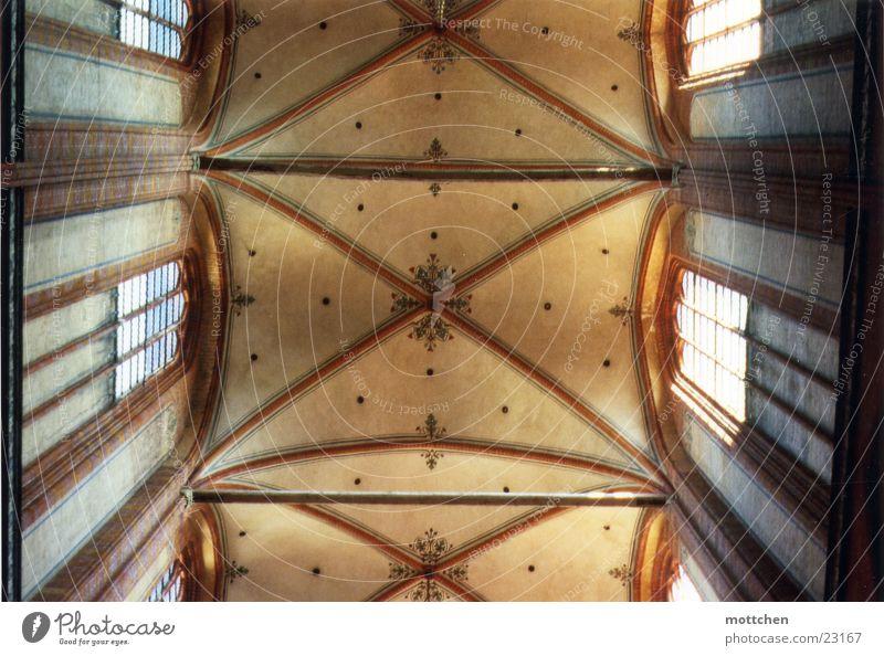 vaulted ship Arcade Religion and faith House of worship Light Brick central aisle Church service sacral architecture