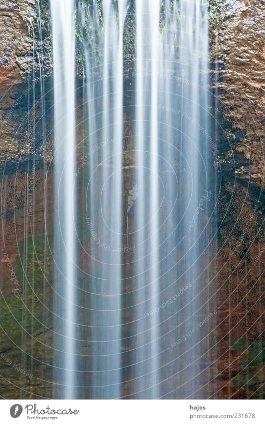 Water Movement Background picture Power Rock Energy Wild Drops of water Esthetic To fall Pure Considerable Copy Space Waterfall Flow Nature reserve